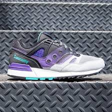 Purple Gray Turquoise And Purple by Saucony Men Grid Sd Gray Purple