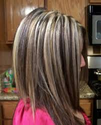 hi and low lights on layered hair dramatic hi lo lights hairstyles pinterest chunky highlights