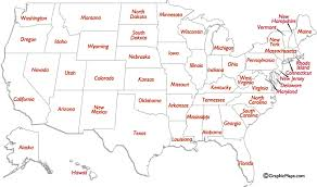 usa map with names us states names and two letter abbreviations map