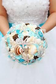 theme wedding bouquets custom blue theme wedding bouquet starfish pearl brooch