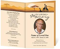 Funeral Program Designs Free Funeral Program Template Madinbelgrade