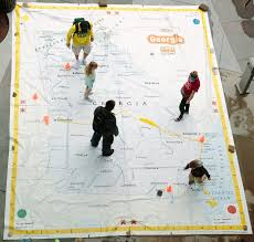 Giant Map The Giant Traveling Map U2013 The Georgia Geographic Alliance