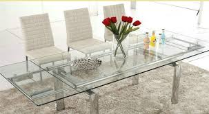 Extendable Meeting Table Modern Extendable Long Mirrored Tempered Glass Conference Table