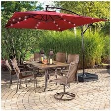Patio Table Umbrella Wilson Fisher 8 X 11 Rectangular Offset Umbrella With Base And