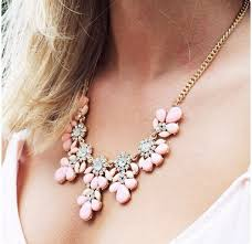 light pink necklace images Jewels gold gold jewelry necklace gold necklace light pink jpg
