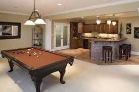 Family Kitchen Design Ideas Decoration Gorgeous Basement Hidden Family Room With Brick Wall