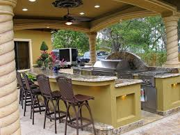 covered outdoor kitchen rustic covered outdoor kitchen with bar