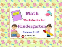 math worksheets for kindergarten number 11 20