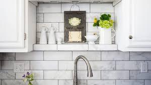 white backsplash kitchen white marble subway tile kitchen backsplash with regard