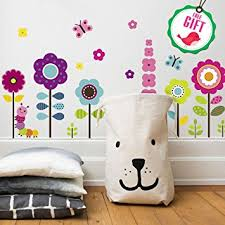 Removable Nursery Wall Decals Flower Wall Stickers For Floral Garden Wall