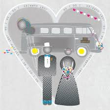 Just Married Cards I Do I Do Just Married Camper Van Card By Allihopa