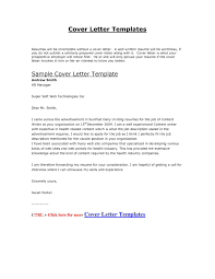 Sample Cover Letter Microsoft Word