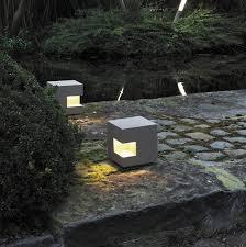 garden bollard light contemporary metal led gutter
