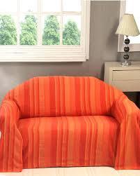 jeté de canapé gifi jetee de canape jetac lit ou canapac morocco rayures orange jete