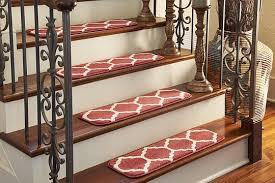 Stairs Rugs Red 0 U0027 9 X 2 U0027 6 Trellis Stair Tread Rug Area Rugs Esalerugs