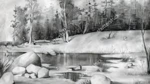 pencil drawings of natural scenery drawing pencil
