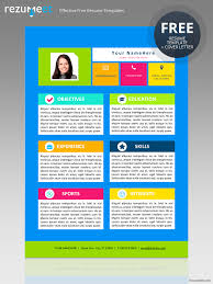 Creative Resume Free Templates My First Resume Template For Kids
