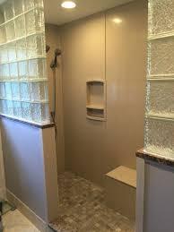 swanstone walls shower niches u0026 bench seat glass block half