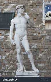 david statue by michelangelo buonarroti florence stock photo