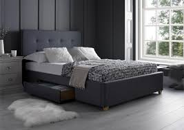 milano grey 2 drawer super king size beds bed sizes