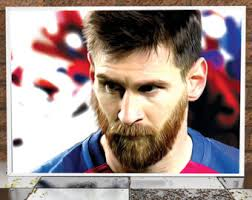 Lionel Messi Halloween Costume Messi Painting Etsy