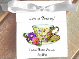 personalized tea bags lil bit of chintz teacup tea favor wedding bridal shower birthday