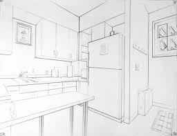 Interior House Drawing Drawing 2 Two Point Perspective Interior Examples Draw A Corner