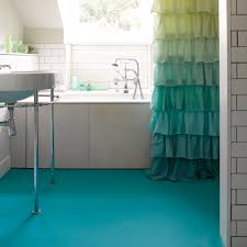 how to install linoleum in a bathroom