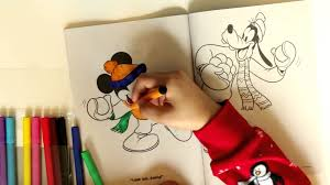 mickey mouse color book kids fun kinder eggs drawing pictures for