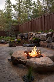 paver patio u0026 gas fire pit in northwest bend oregon newport