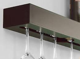 hanging wine glass rack holder wall mount kitchen bar shelf stand