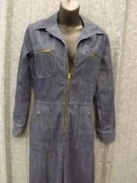 sears jumpsuit cool sears vtg 1960s blue 50 50 denim jumpsuit 11 zip front