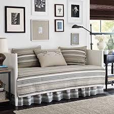 amazon com stone cottage fresno neutral 5 piece daybed quilt set