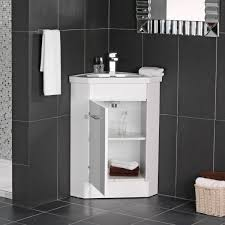Corner Cabinet For Bathroom Trendy Bathroom Vanities Space Saving With Corner Cabinet Using