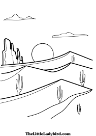 100 desert coloring pages printable royalty free stock cowgirl