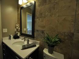 bathroom maximizing small bathroom makeover with dark wall tile
