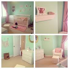 mint green pink and gold baby nursery baby 2 pinterest