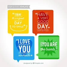 coloured templates coloured quotes templates vector free download