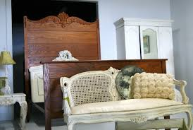 High Headboard Bed Antique Oak Bed With High Headboard And Using White Wardrobe Ideas