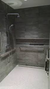 best ideas about roll showers pinterest wheelchair ada roll shower grohe valve tile covered linear drain converted from toilet bathroom layoutbathroom designsbathroom