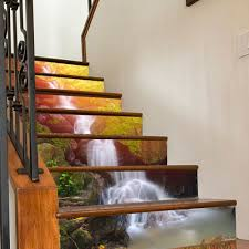 3d waterfall stair risers decoration photo mural vinyl decal