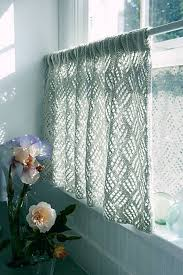 crochet cafe curtains for kitchen popular cafe curtains for