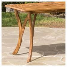 Acacia Wood Dining Table Hermosa Rectangular Acacia Wood Dining Table Teak Finish