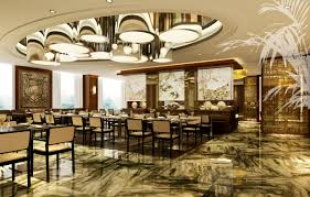 Restaurant Tile Exotic Restaurant With Exquisite Floor Tile 3d Model Max