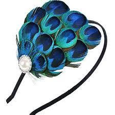 peacock headband best peacock hair fascinators products on wanelo