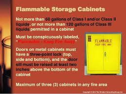 flammable cabinet storage guidelines osha compliance with flammable and combustible liquids