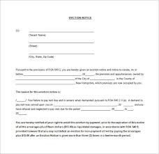 eviction letter example letter idea 2018