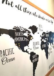 World Map Wall Poster by Diy Easy Push Pin World Map Wall Art
