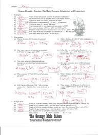 moles conversion worksheet worksheets