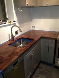 eco pro walnut countertop with undermount sink cutout eco pro